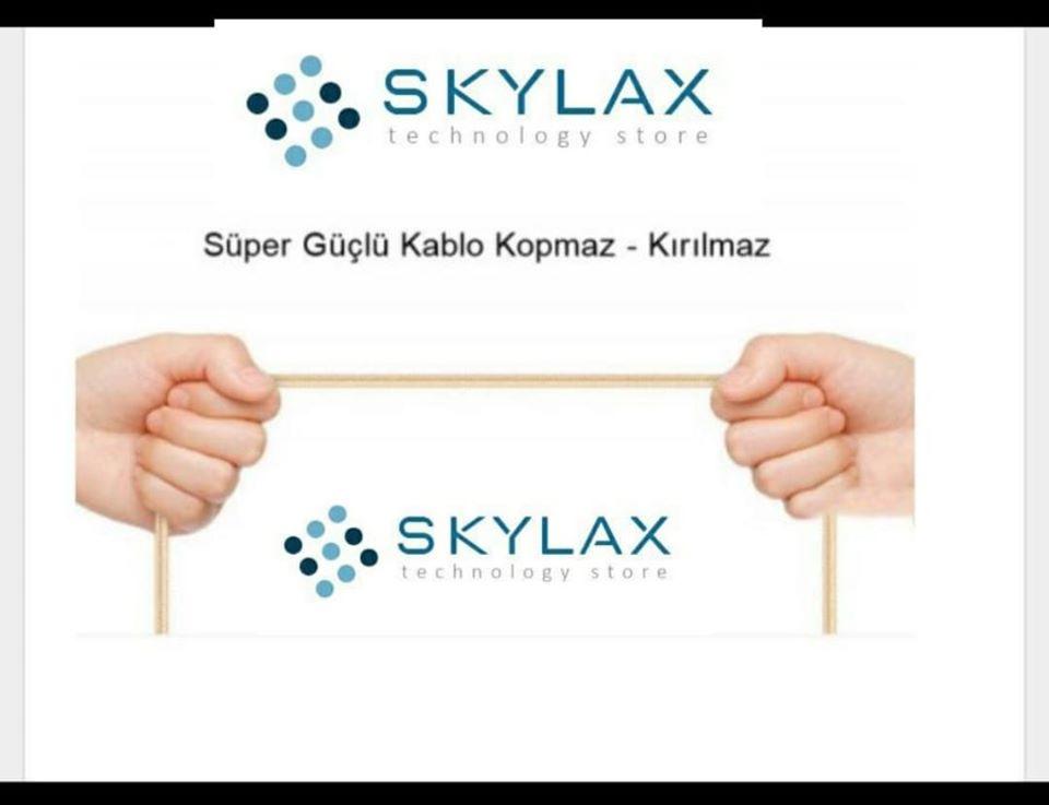 Skylax Hasırlı Kablo (kopmaya karşı dayanıklı)