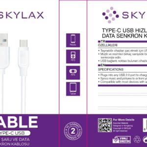 Skylax Şarj Kablo 120cm Type-c