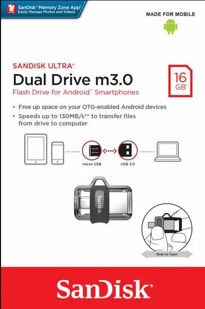 Sandisk Ultra Dual Drive M3.0 16 Gb
